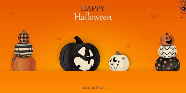Счастливого хэллоуина. кошелек или жизнь. бу. концепция праздника с призраком