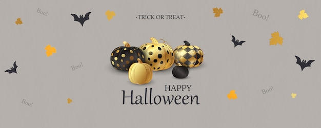 Счастливого хэллоуина. кошелек или жизнь. бу. страшные воздушные шарики. концепция праздника с призраками конфетти хэллоуин блеск смешные лица для веб-сайта