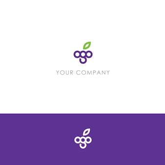 モダンなブドウのロゴ