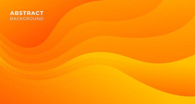 オレンジ色の抽象的な波背景
