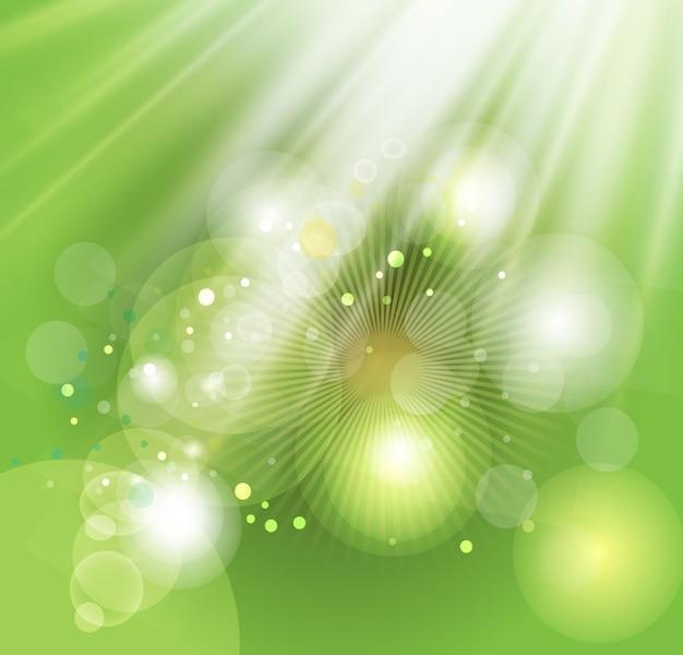 Зеленый свет пузырьков фоновое изображение