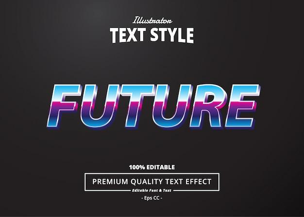 Будущий текстовый эффект