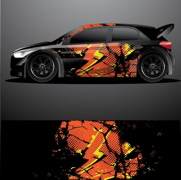 Раллийный автомобиль наклейка графический дизайн, абстрактный дизайн