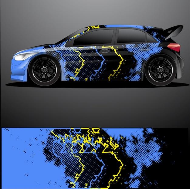 Раллийный автомобиль наклейка графическая пленка, абстрактный фон