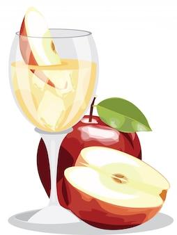 自家製の新鮮なリンゴジュース