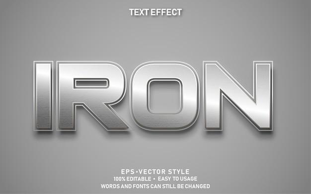 Редактируемый текстовый эффект железо