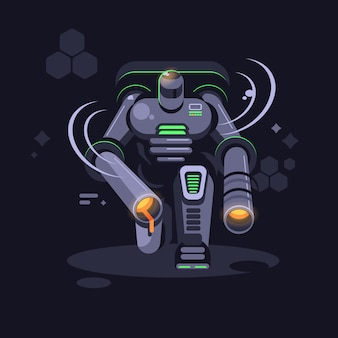 Металлический футуристический робот
