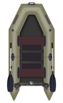 Надувная лодка вид сверху