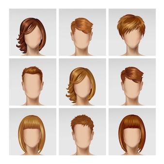 Многонациональное мужское женское лицо аватар профиль головы
