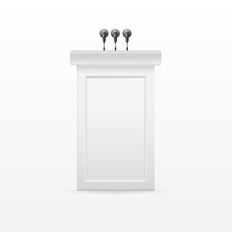 Стойка трибуны «трибуна подиум», белая