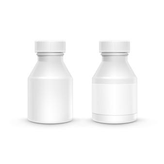 Бутылка пластиковая упаковка с крышкой для таблеток