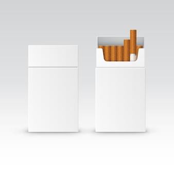 Вектор пустой пакет пакет коробка сигарет