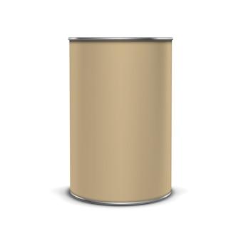 Вектор кофе чай упаковка пакет банка банка банку олова, изолированные на белом