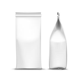 Вектор кофе чай упаковка пакет сумка, изолированные на белом