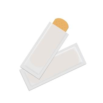 Вектор бинт штукатурка помощи группы медицинский клей набор, изолированные на белом