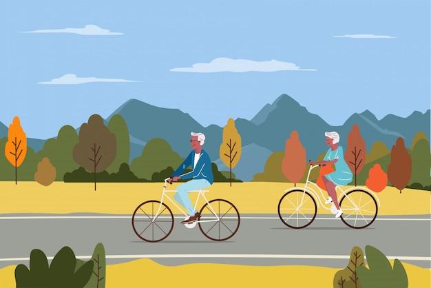 Здоровый активный образ жизни пенсионер бабушки и дедушки