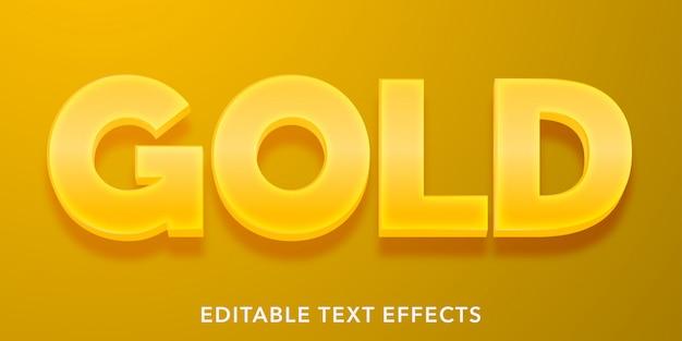 Золотые редактируемые текстовые эффекты