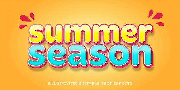 夏スタイルの編集可能なテキスト効果