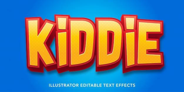 Детские стили редактируемые шаблоны текстовых эффектов