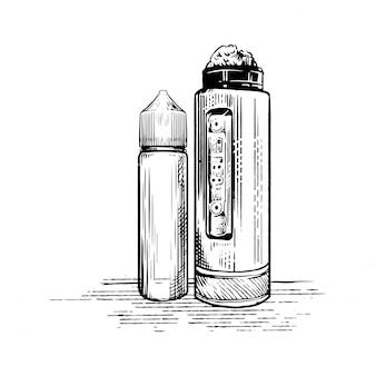 蒸気を吸うロゴ