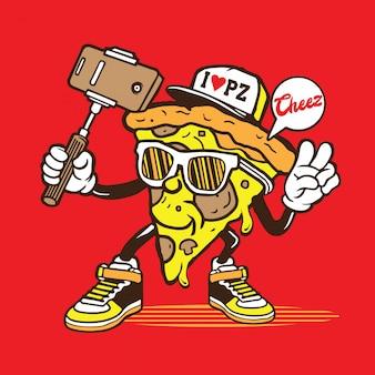 自分撮りピザ