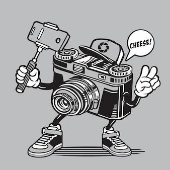 カメラ自分撮りキャラクターデザイン
