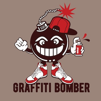 Дизайн персонажей бомбардировщиков граффити
