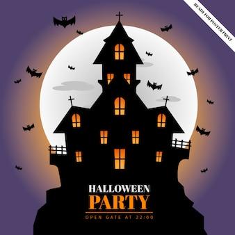 ハロウィーンパーティーのポスターを宣伝します。