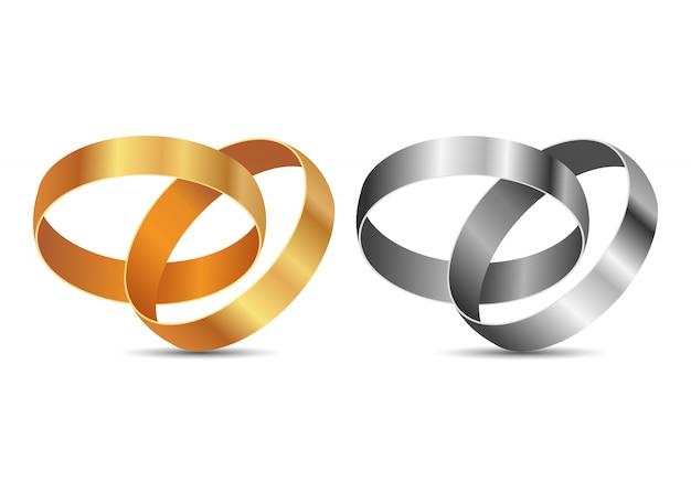 Обручальные кольца дизайн иллюстрация на белом фоне