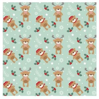 かわいいクマのクリスマスコンセプトのパターン
