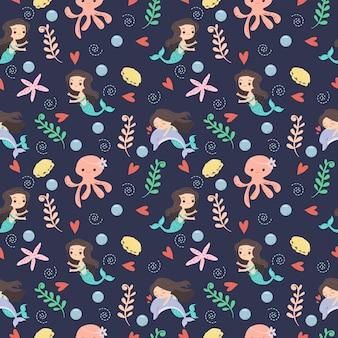 人魚と水中の友人パターン/背景
