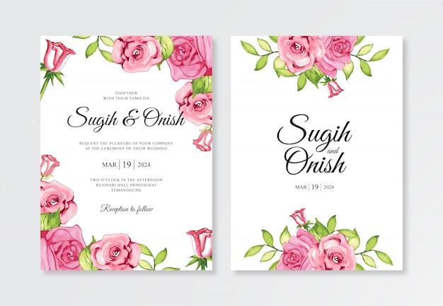 Набор элегантных свадебных пригласительных билетов