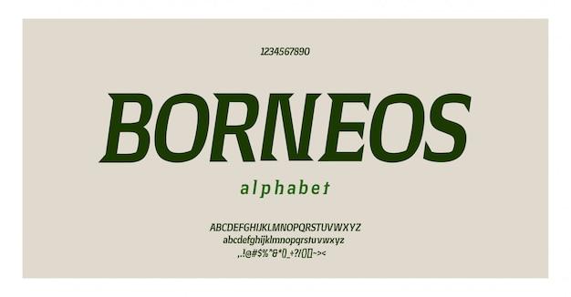 Элегантный шрифт букв алфавита и номер. классические медные надписи минимальный дизайн одежды. типография шрифтов обычная прописная и строчная. векторная иллюстрация