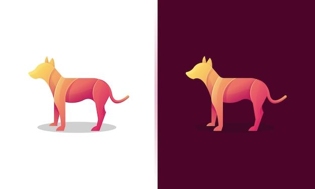 Красочный шаблон логотипа собаки
