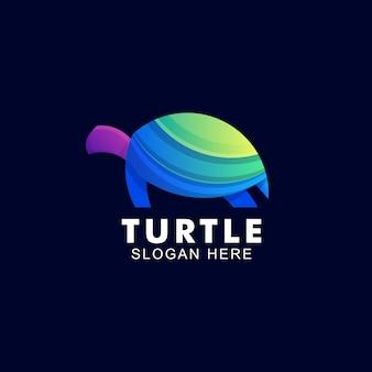 Красочный логотип черепаха