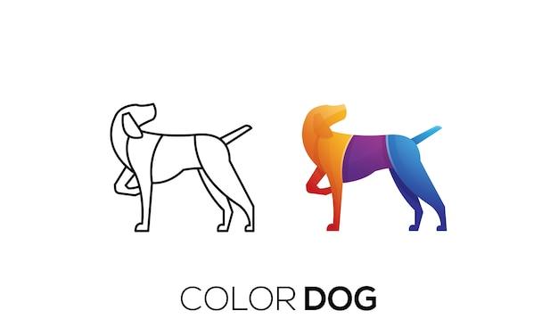 Иллюстрация красочный логотип собаки дизайн шаблона