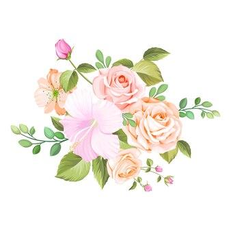 花のブーケの結婚式