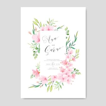 結婚式の花桜フレーム