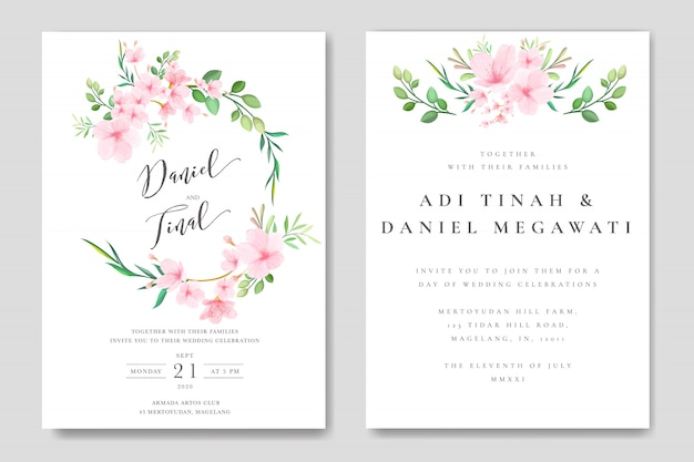 Свадебные цветочные рамки сакуры шаблон