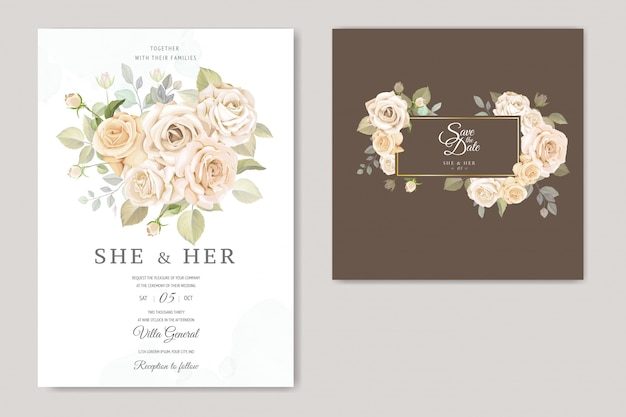 Красивая цветочная рамка свадебное приглашение