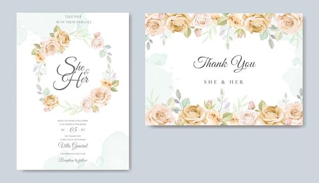 Красивая цветочная рамка свадебный пригласительный билет шаблон
