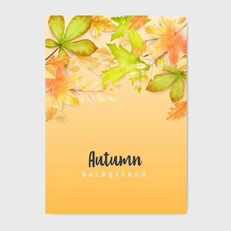 Осенний баннер с красочными осенними листьями фон