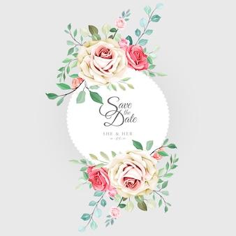 美しい花のウェディングカード