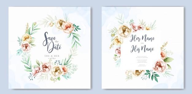 Акварель свадебные приглашения