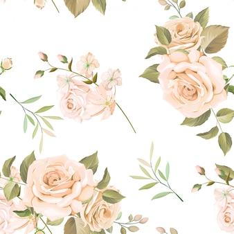 Красивый цветочный бесшовный узор