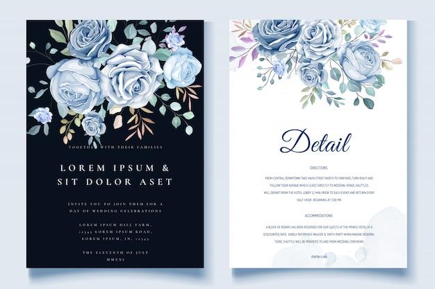 Красочные цветочные свадебные приглашения