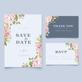 Элегантные цветочные свадебные приглашения