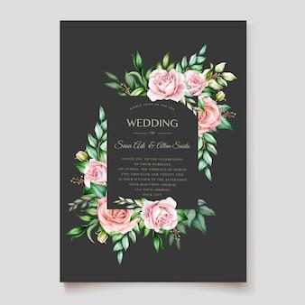 Элегантный цветочный дизайн свадебной открытки