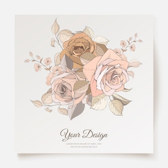 Свадебное приглашение с элегантным дизайном шаблона