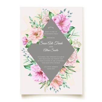 エレガントな桜の結婚式の招待状のテーマ